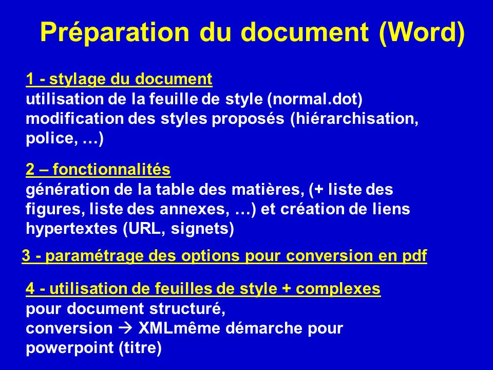 mettre un document word en format pdf