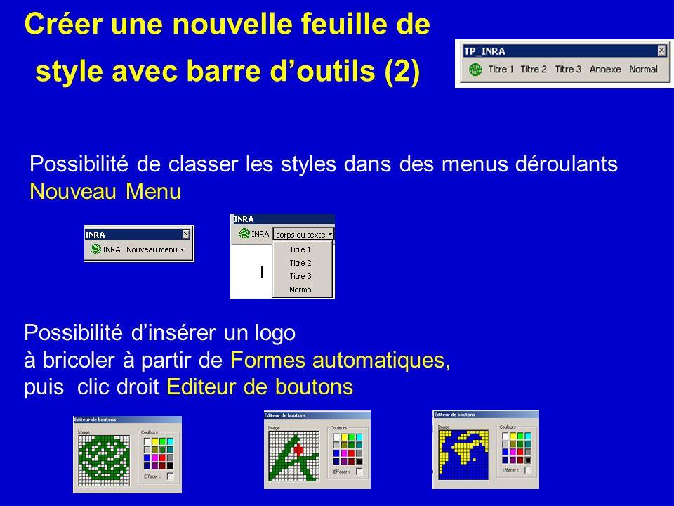 Créer une nouvelle feuille de style avec barre d'outils (2)