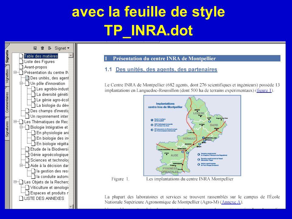 avec la feuille de style TP_INRA.dot