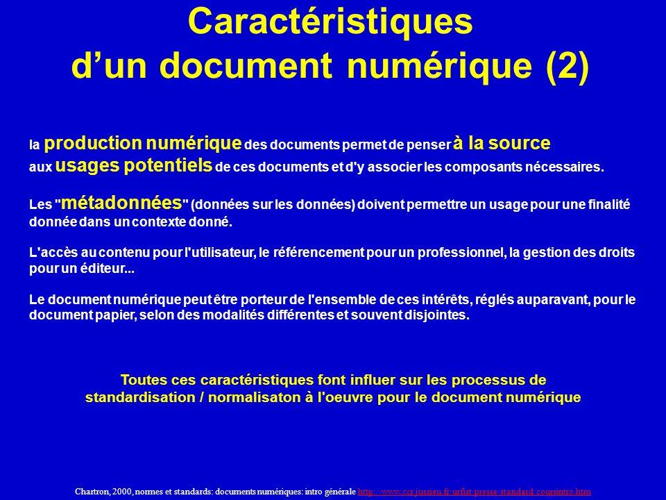 Caractéristiques d'un document numérique (2)