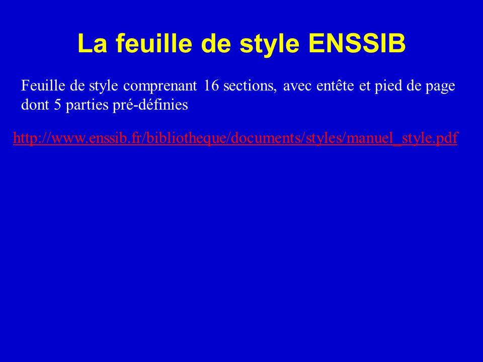 La feuille de style ENSSIB