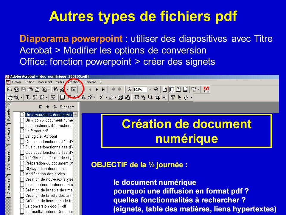Autres types de fichiers pdf