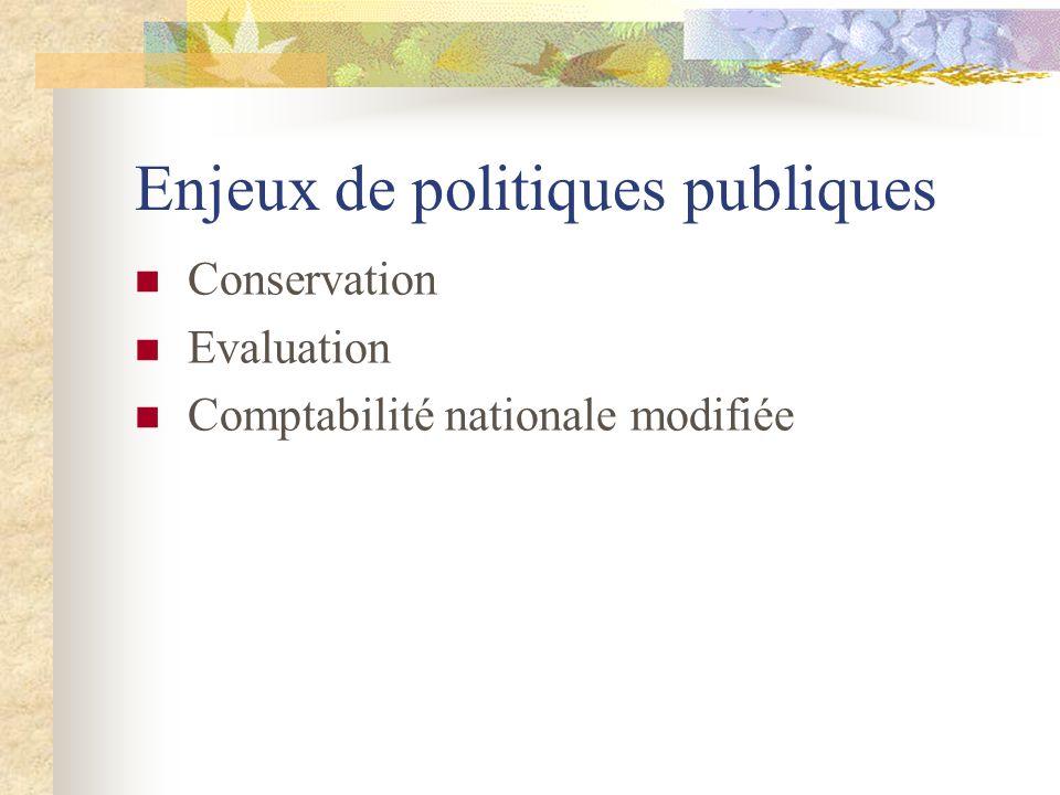 Enjeux de politiques publiques