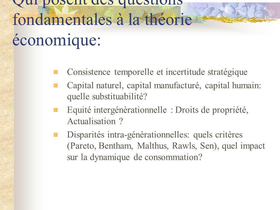 Qui posent des questions fondamentales à la théorie économique:
