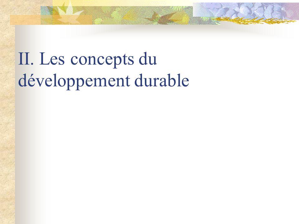 II. Les concepts du développement durable