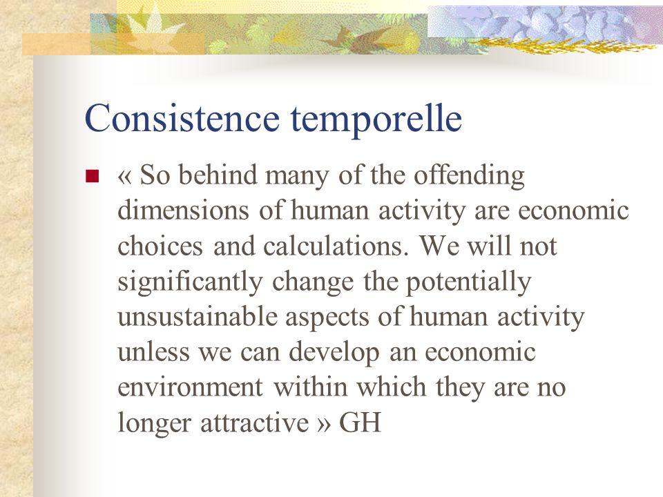Consistence temporelle