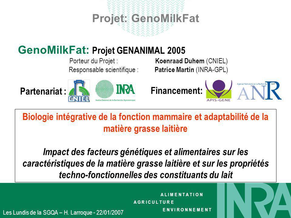 GenoMilkFat: Projet GENANIMAL 2005