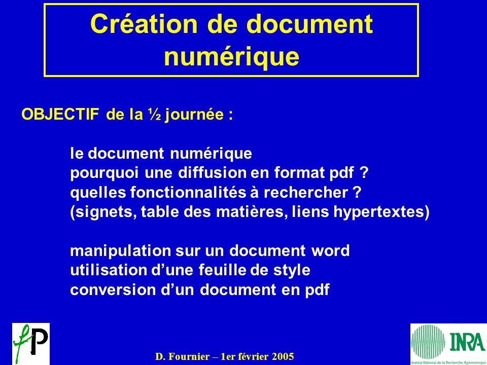 Création de document numérique