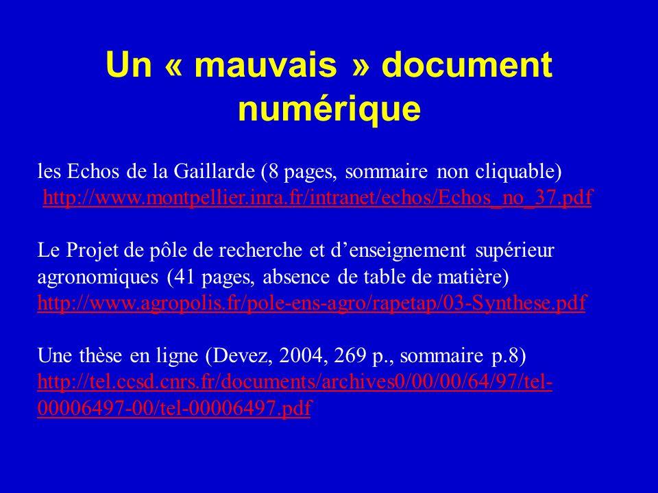 Un « mauvais » document numérique