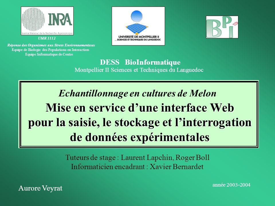 Mise en service d'une interface Web