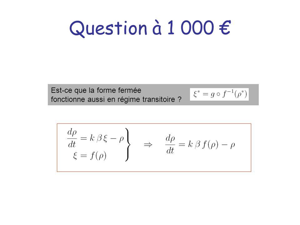 Question à 1 000 € Est-ce que la forme fermée