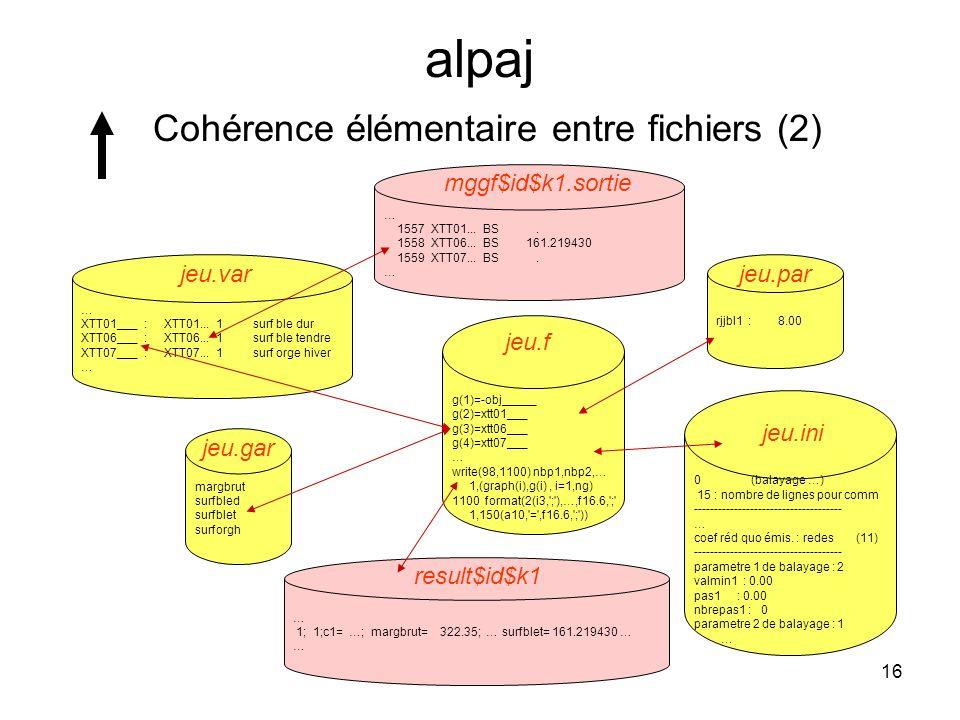 alpaj Cohérence élémentaire entre fichiers (2)