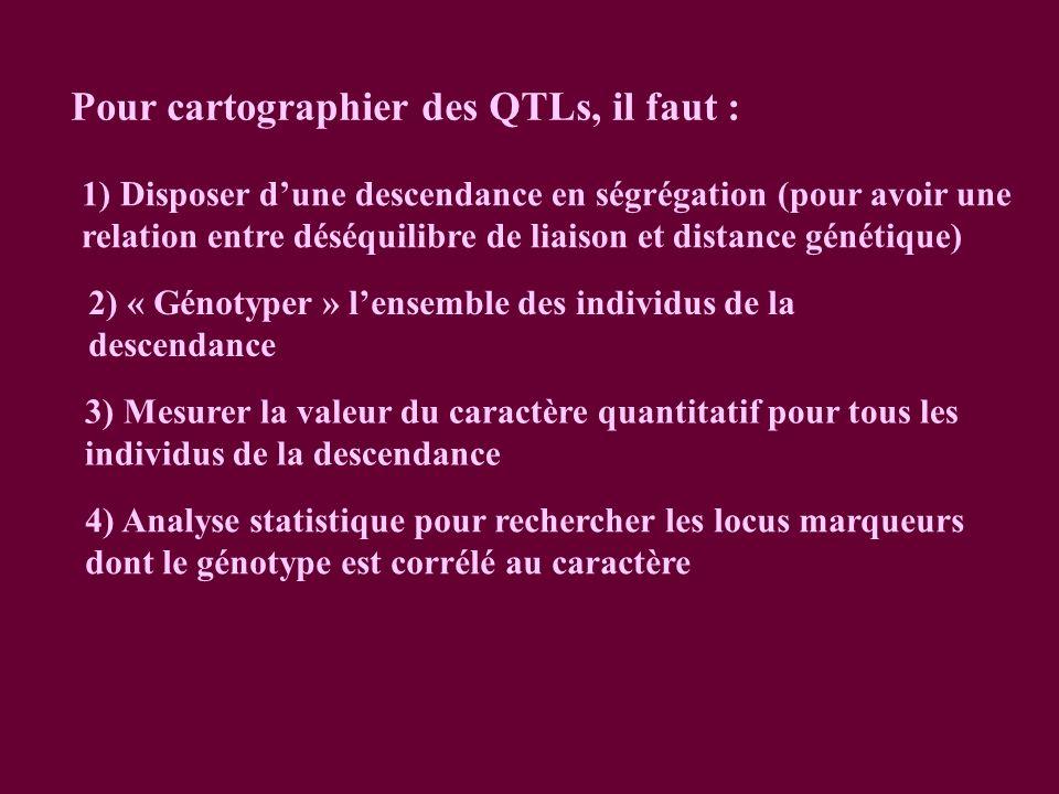 Pour cartographier des QTLs, il faut :