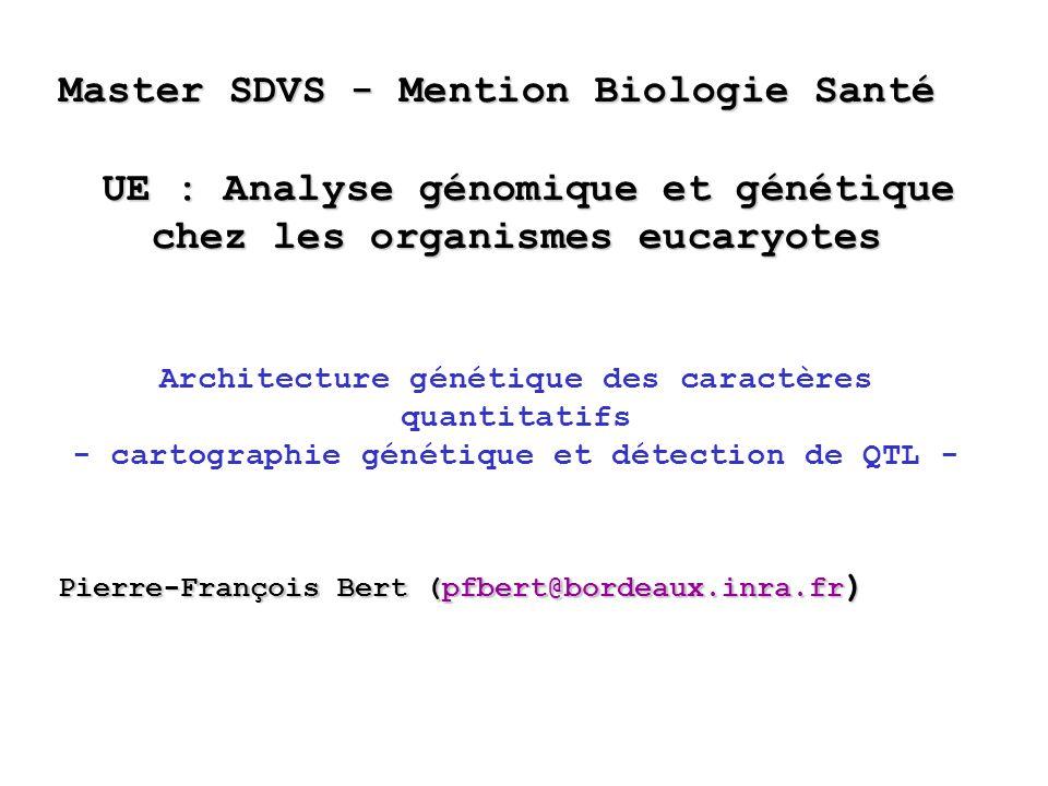 UE : Analyse génomique et génétique chez les organismes eucaryotes
