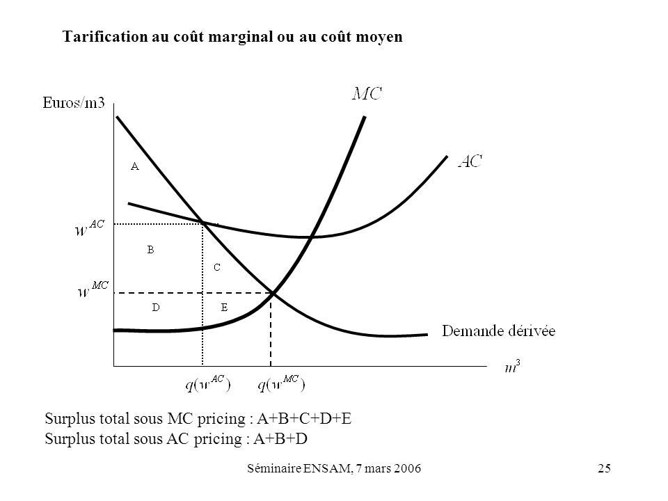 Tarification au coût marginal ou au coût moyen