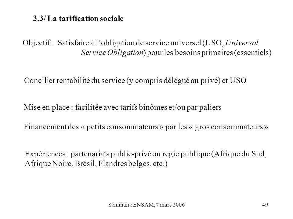3.3/ La tarification sociale