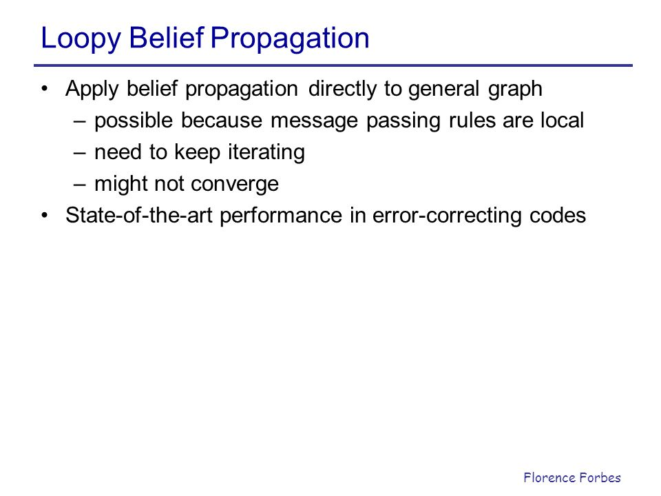 Loopy Belief Propagation