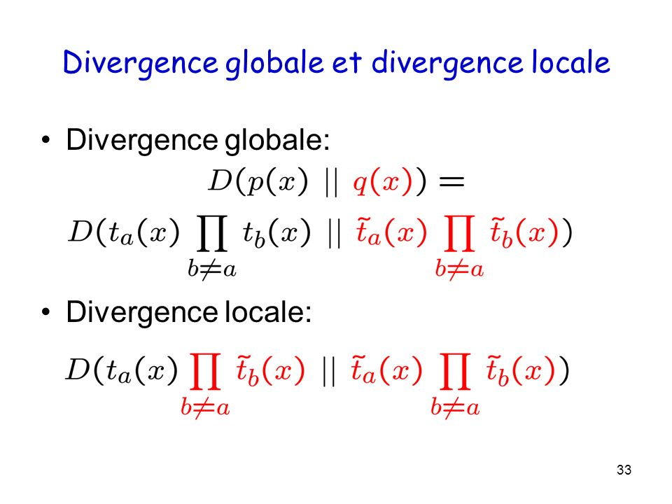 Divergence globale et divergence locale