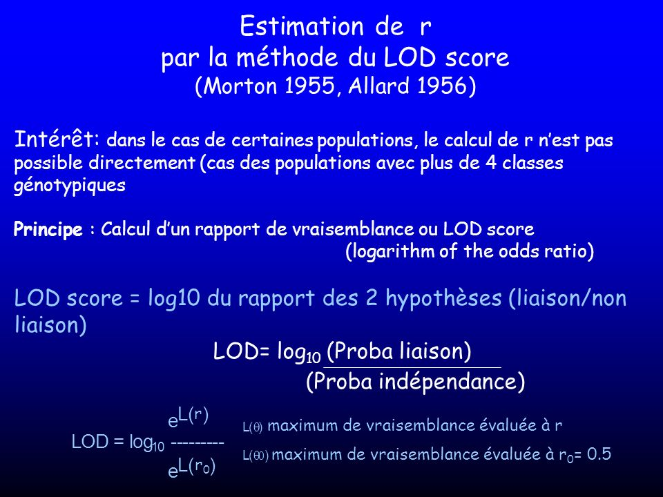 par la méthode du LOD score