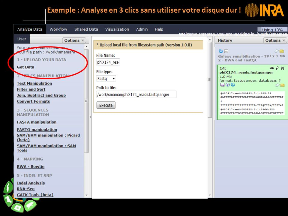 Exemple : Analyse en 3 clics sans utiliser votre disque dur !