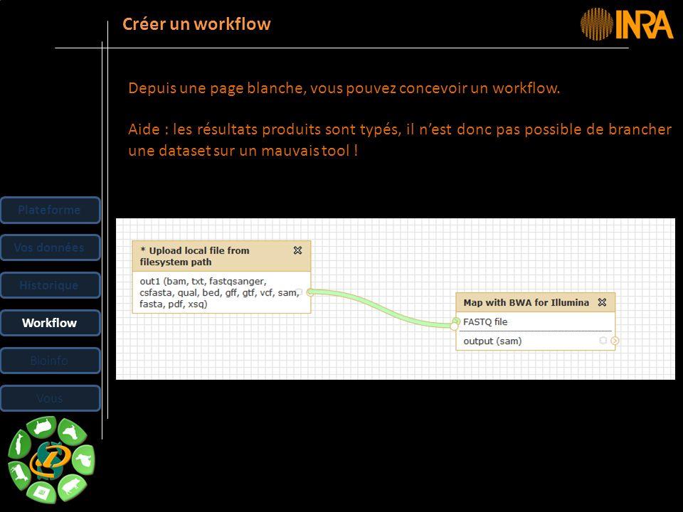 Créer un workflow Depuis une page blanche, vous pouvez concevoir un workflow.