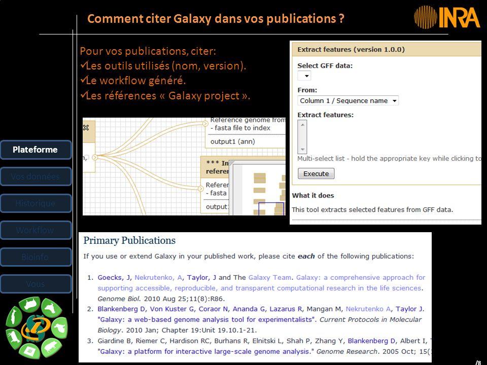 Comment citer Galaxy dans vos publications