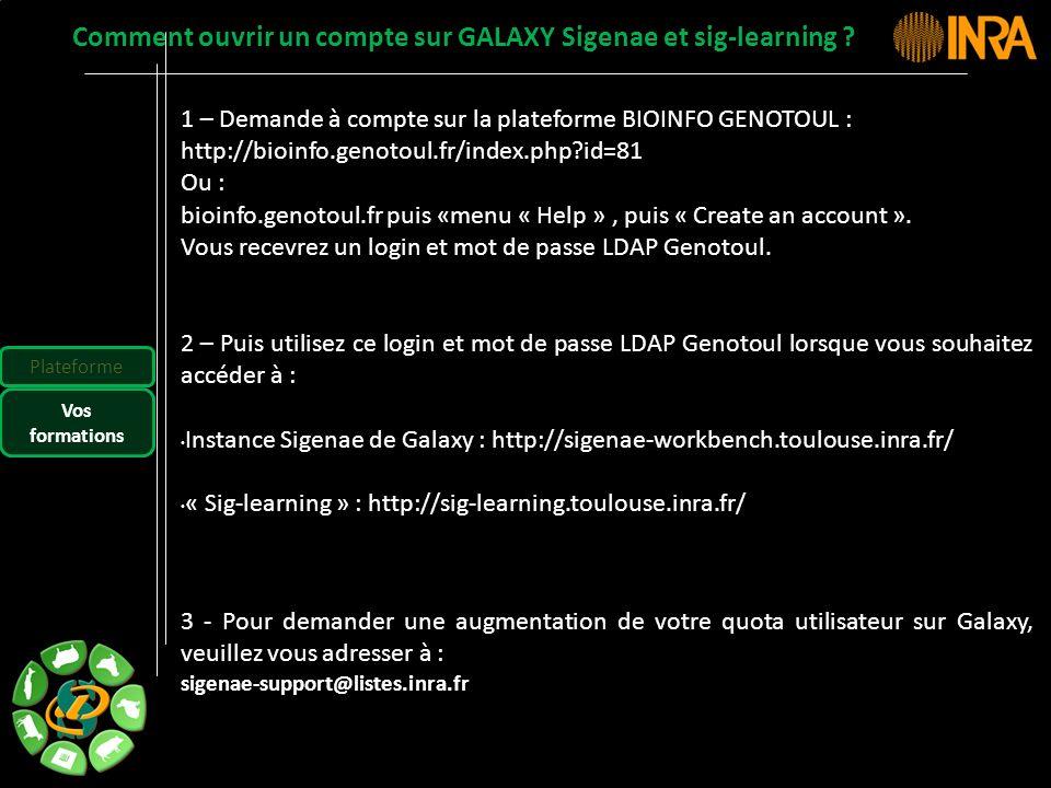 Comment ouvrir un compte sur GALAXY Sigenae et sig-learning