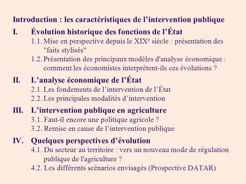 Introduction : les caractéristiques de l'intervention publique
