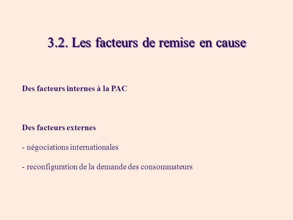 3.2. Les facteurs de remise en cause