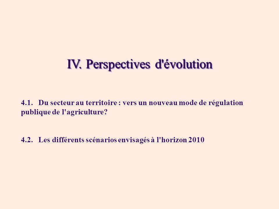IV. Perspectives d évolution