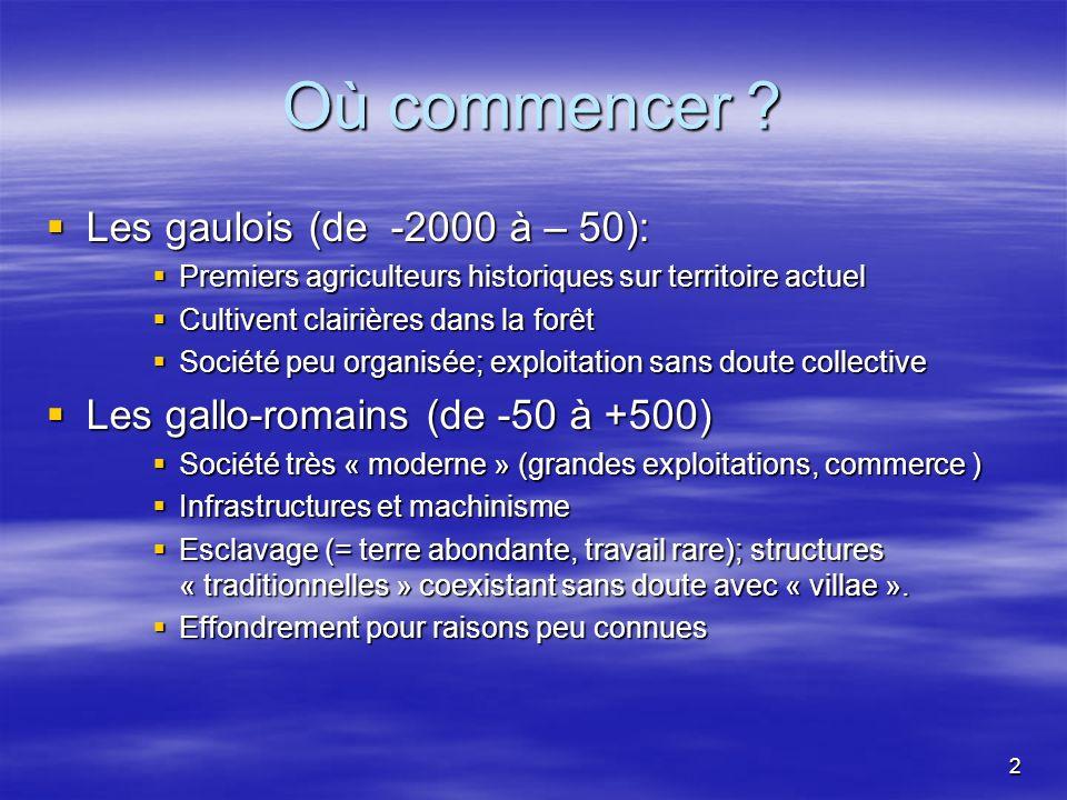 Où commencer Les gaulois (de -2000 à – 50):