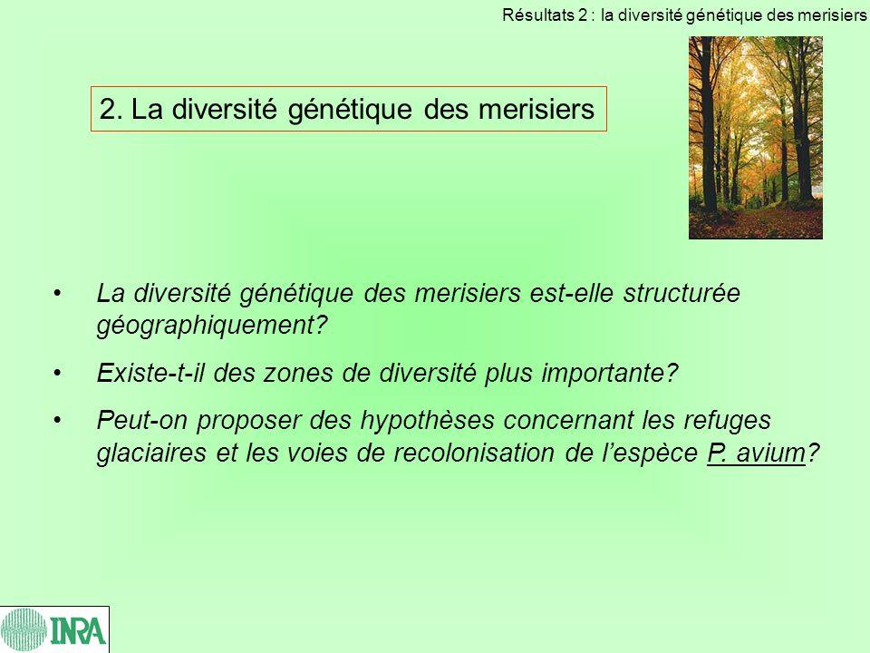 2. La diversité génétique des merisiers