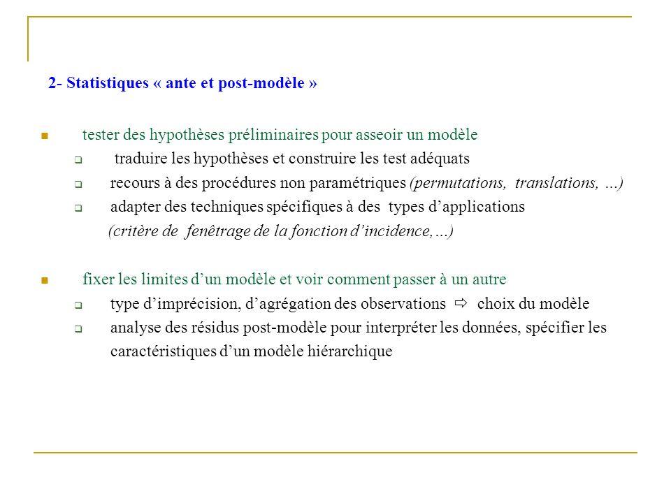 2- Statistiques « ante et post-modèle »