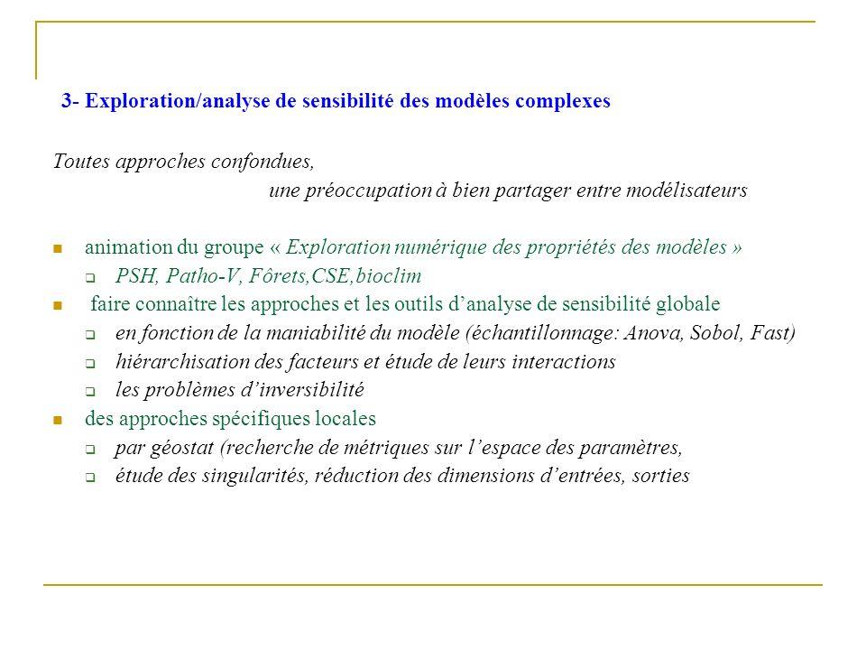 3- Exploration/analyse de sensibilité des modèles complexes