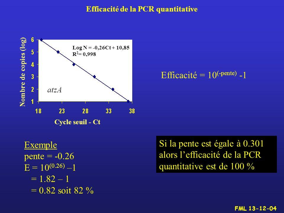 Efficacité de la PCR quantitative