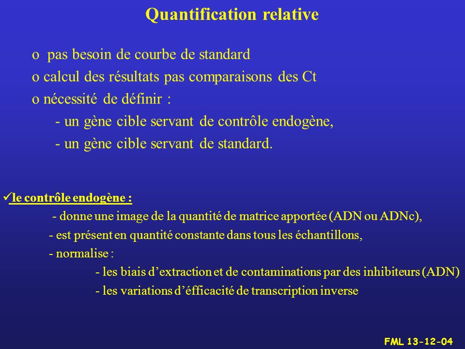 Quantification relative