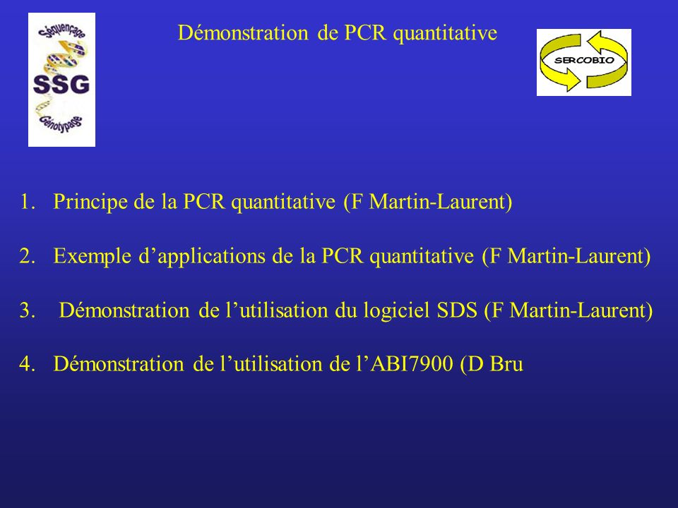 Démonstration de PCR quantitative