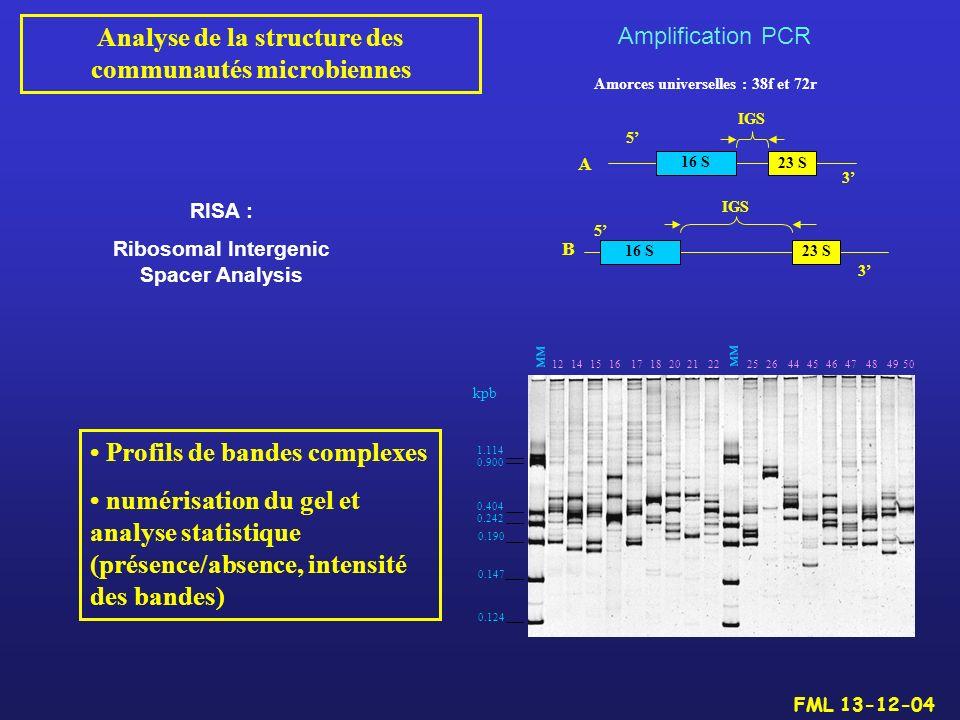 Analyse de la structure des communautés microbiennes