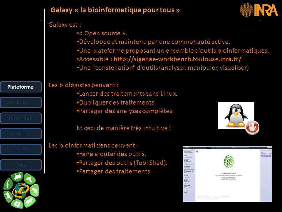 Galaxy « la bioinformatique pour tous »