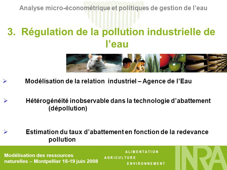 3. Régulation de la pollution industrielle de l'eau