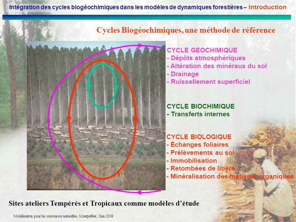 Cycles Biogéochimiques, une méthode de référence