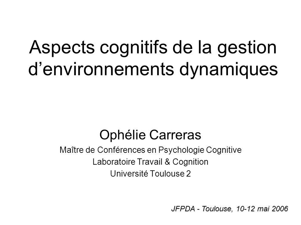 Aspects cognitifs de la gestion d'environnements dynamiques