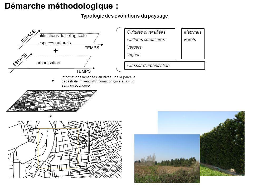 Démarche méthodologique : Typologie des évolutions du paysage