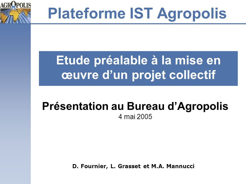Plateforme IST Agropolis