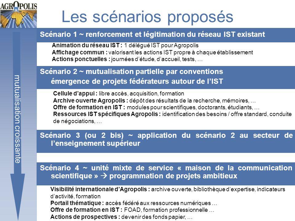 Les scénarios proposés