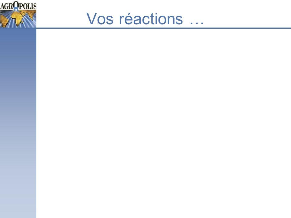 Vos réactions …