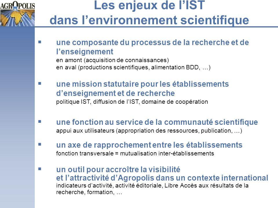 Les enjeux de l'IST dans l'environnement scientifique