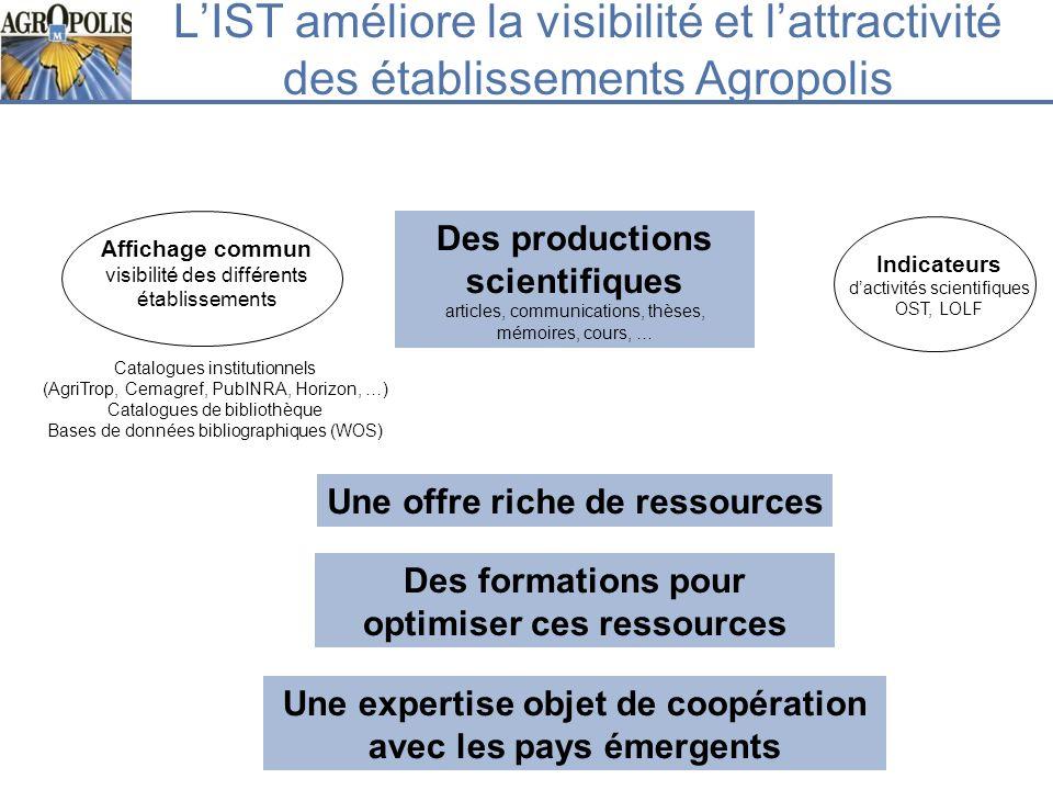 L'IST améliore la visibilité et l'attractivité des établissements Agropolis