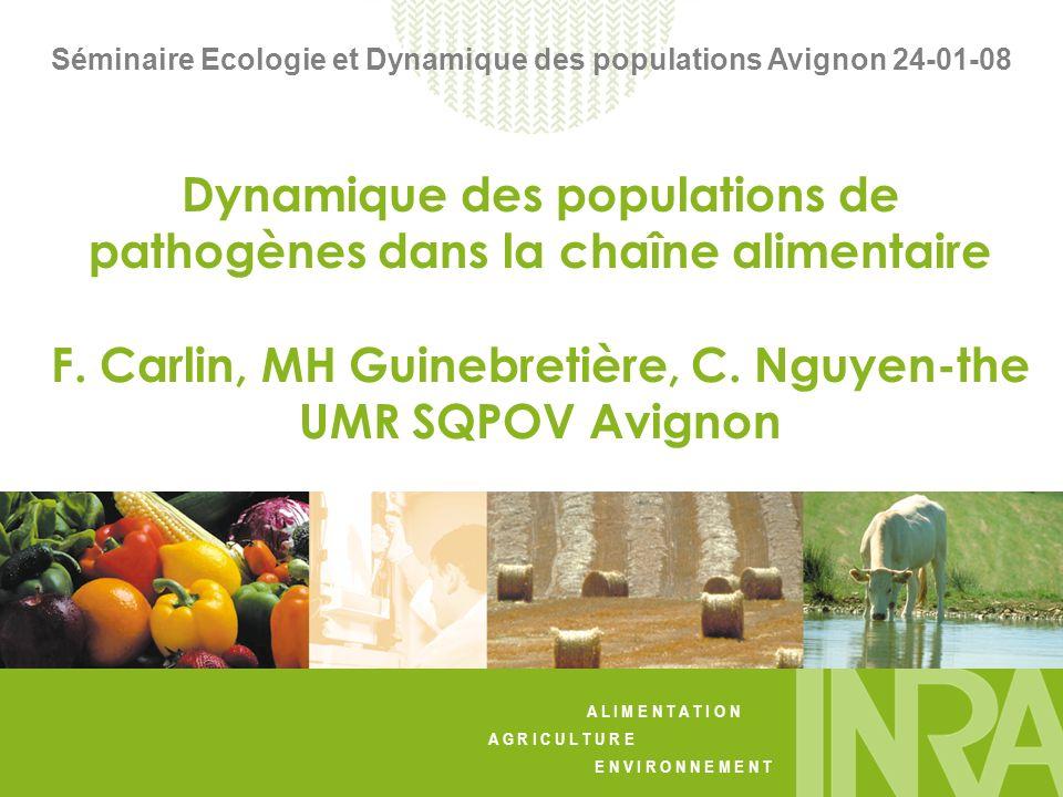 Dynamique des populations de pathogènes dans la chaîne alimentaire