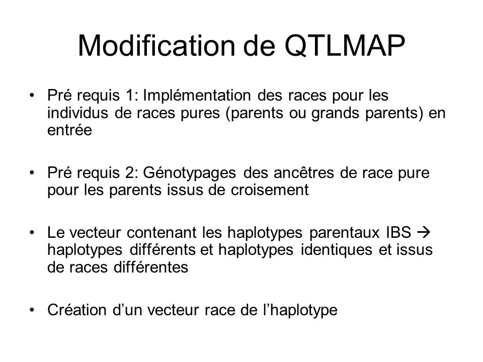 Modification de QTLMAP